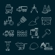 Construction Icons Set Outline - GraphicRiver Item for Sale