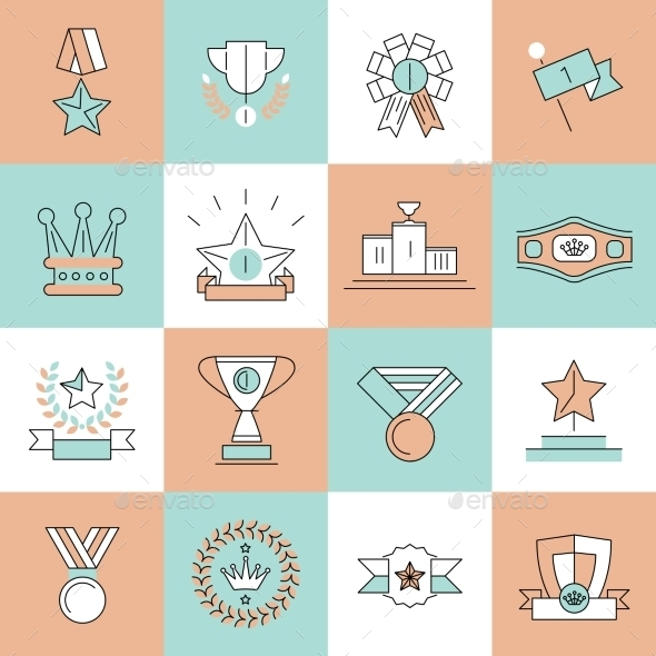 GraphicRiver Award Icons Set 9261656