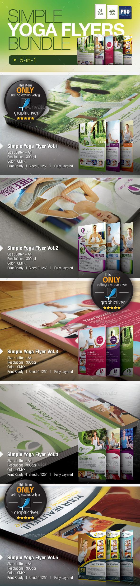Simple Yoga & SPA Flyer Bundle - Sports Events
