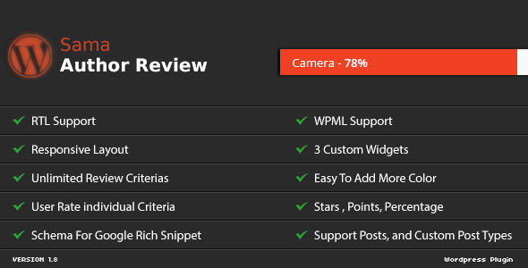 Sama Author Review WordPress Plugin - CodeCanyon Item for Sale