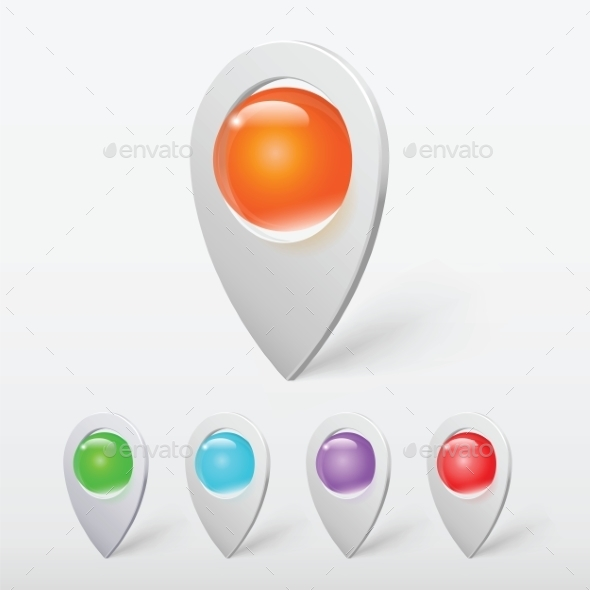 GraphicRiver Realistic Crystal Ball Colorful Pointers or Pins V 9262012