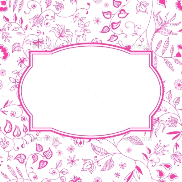 GraphicRiver Floral Pattern Pink Background 9262029