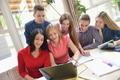 happy teens group in school - PhotoDune Item for Sale
