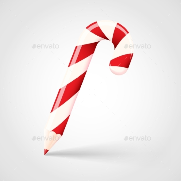 GraphicRiver Candy Cane Pencil Abstract Vector Christmas Concep 9262115