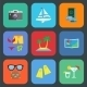 Flat Travel or Vacation Icon Set - GraphicRiver Item for Sale