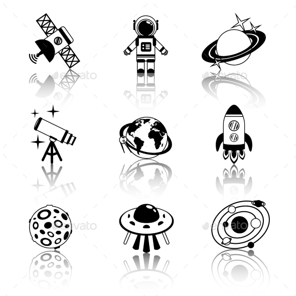 GraphicRiver Space Icons 9262789