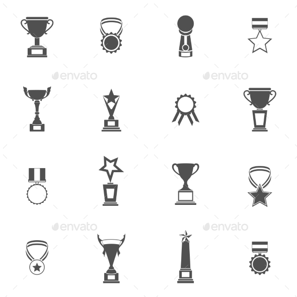 GraphicRiver Trophy Icons Set 9262801