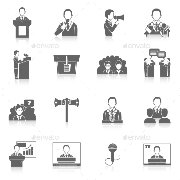GraphicRiver Public Speaking Icons 9262810