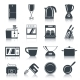 Kitchen Appliances Icons Black - GraphicRiver Item for Sale
