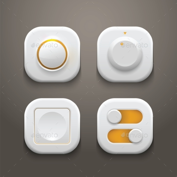 GraphicRiver Buttons Switches Knobs Set 9262854