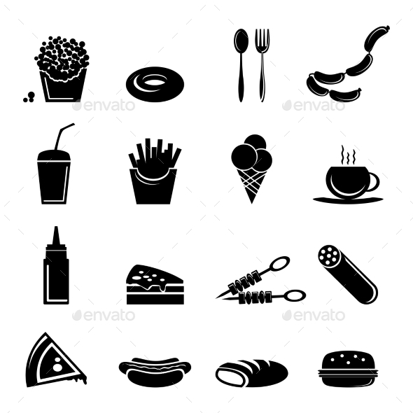GraphicRiver Fast Food Icons 9262878
