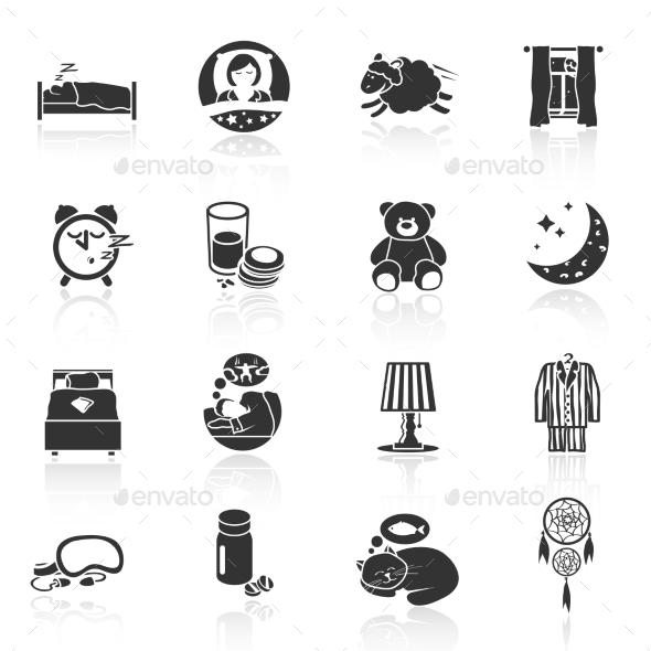 GraphicRiver Sleep Time Icons 9262884