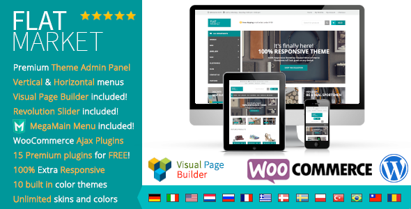 ThemeForest FlatMarket Multi-Purpose WooCommerce theme 9185162