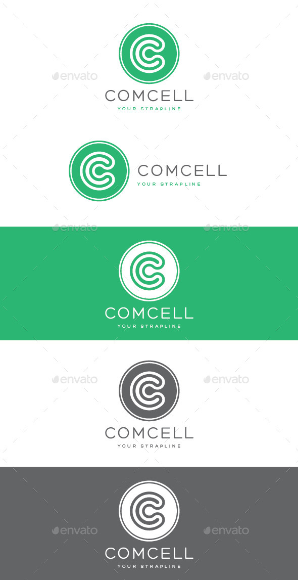 GraphicRiver Comcell Letter C Logo 9263478