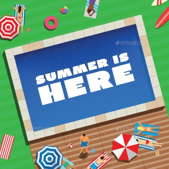 GraphicRiver Summer is Here Abstract Vector Background or Card 9263481