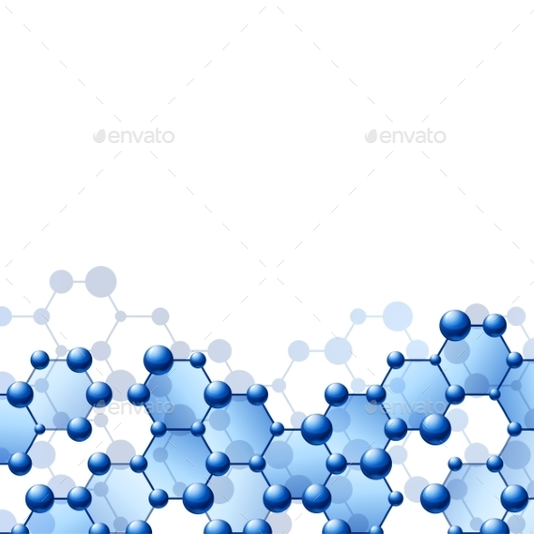 GraphicRiver Background with Molecule Structure 9263501