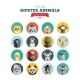 Flat Style Hipster Animals Avatar Vector Icon Set  - GraphicRiver Item for Sale
