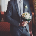 Wedding groom posing.