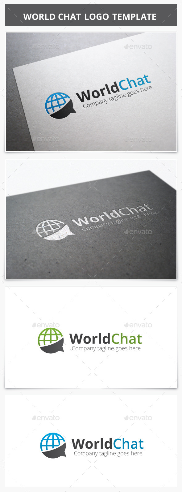 GraphicRiver World Chat Logo 9263599