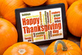 Happy Thanksgiving word cloud - PhotoDune Item for Sale