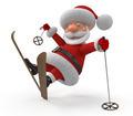 3d Santa Claus on skis - PhotoDune Item for Sale