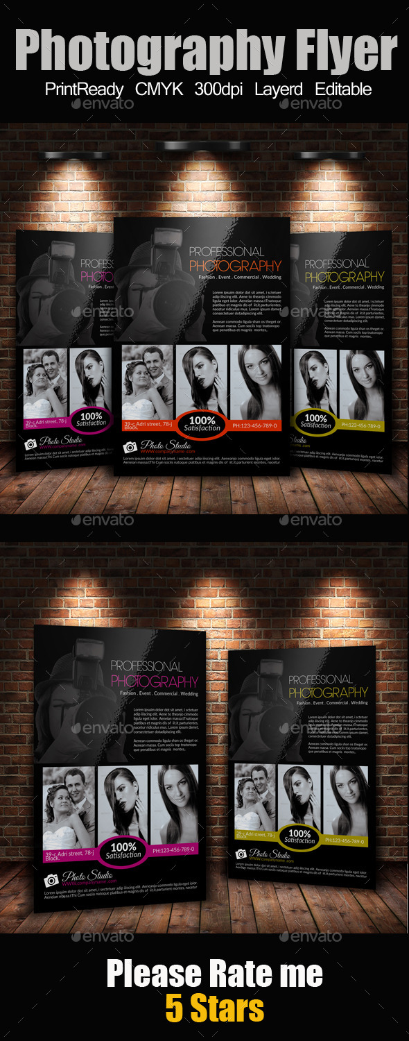GraphicRiver A4 Photography Flyer 9263639
