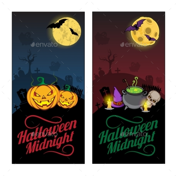GraphicRiver Halloween Banners or Flyers Concept 9263725
