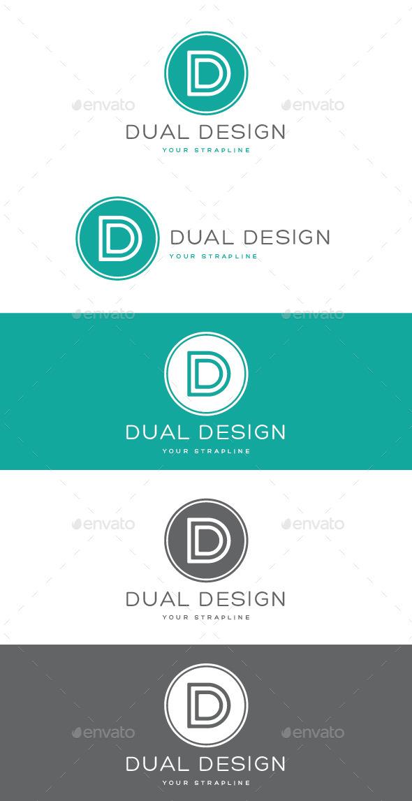 GraphicRiver Dual Design Letter D Logo 9263734