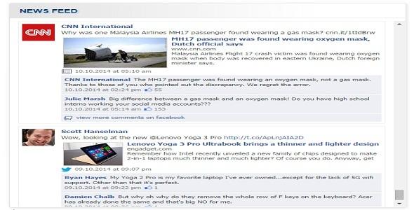 CodeCanyon Facebook News Feed 9222625