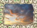 Frame from the dollars on the dark sky - PhotoDune Item for Sale