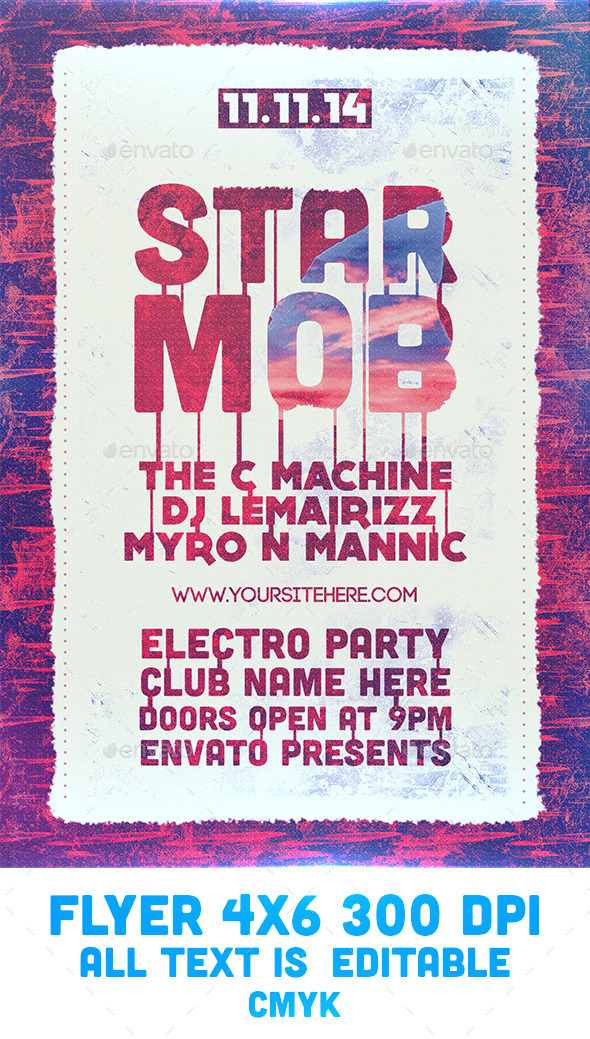 GraphicRiver Star Mob Flyer Template 9263900