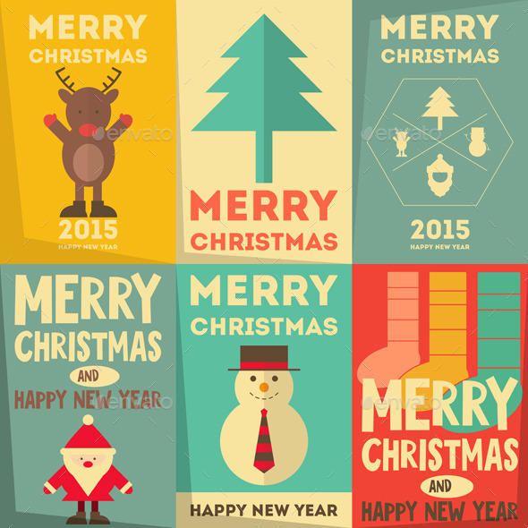 GraphicRiver Christmas Posters Set 9264059