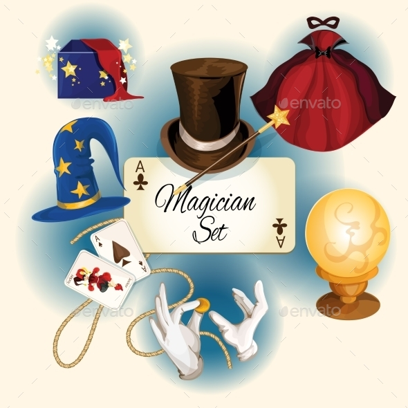 GraphicRiver Magician Icons Set 9264082