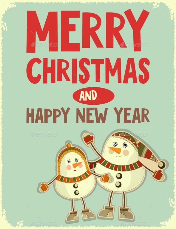GraphicRiver Merry Christmas Greeting Card 9264105