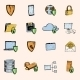 Data Protection Sketch Icons Colored - GraphicRiver Item for Sale