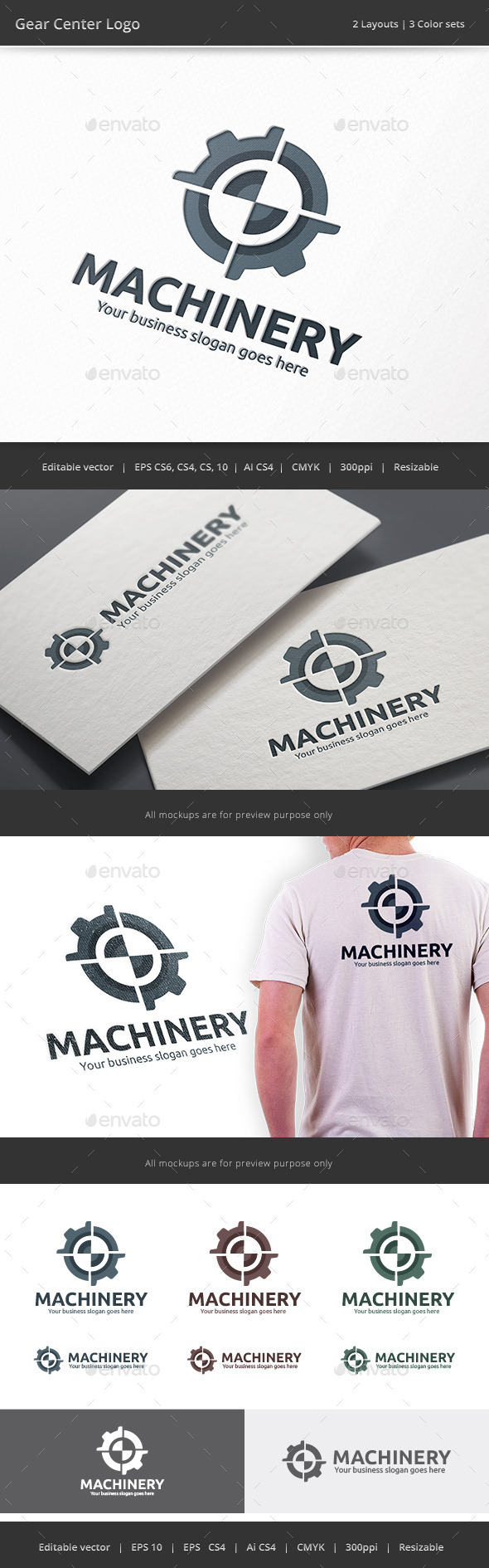 GraphicRiver Gear Center Logo 9264146