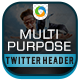 Multi Purpose Twitter Header - GraphicRiver Item for Sale