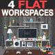 Flat Living Room Illustration - GraphicRiver Item for Sale