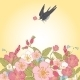 Vintage Flowers Background with Birds - GraphicRiver Item for Sale
