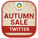 Autumn Sale Twitter Header - GraphicRiver Item for Sale