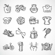 Fitness Sketch Icons Set - GraphicRiver Item for Sale