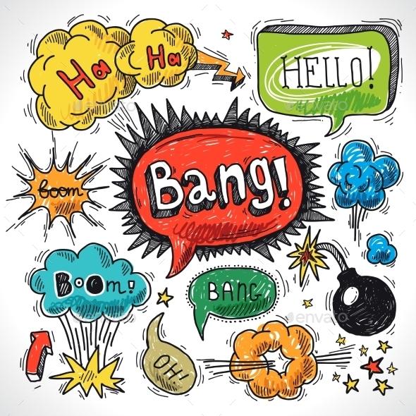 GraphicRiver Comic Speech Bubbles 9264265
