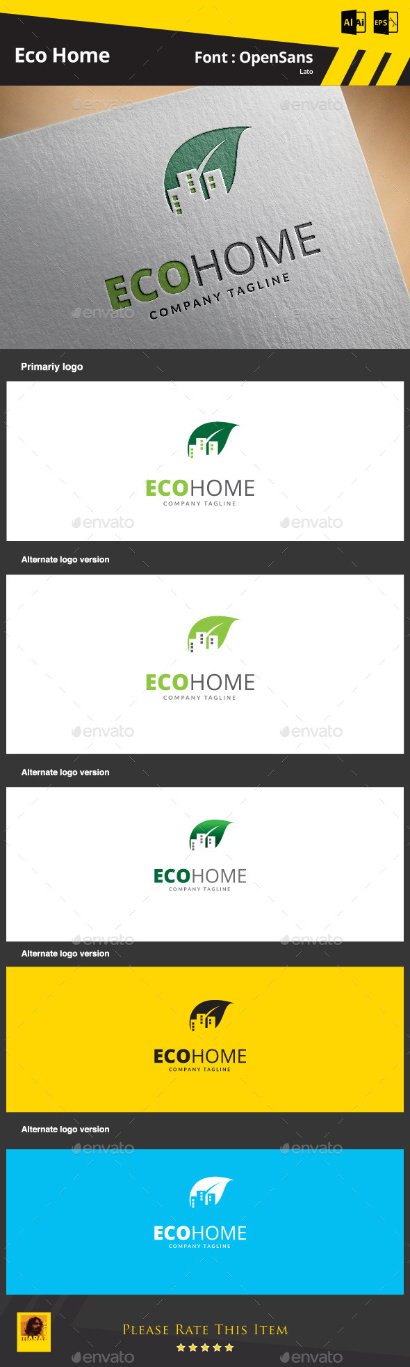 GraphicRiver Eco Home 9264268