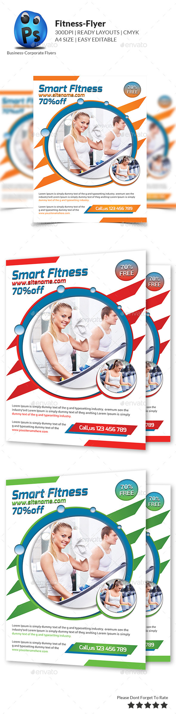GraphicRiver Fitness Flyer Template 9264502