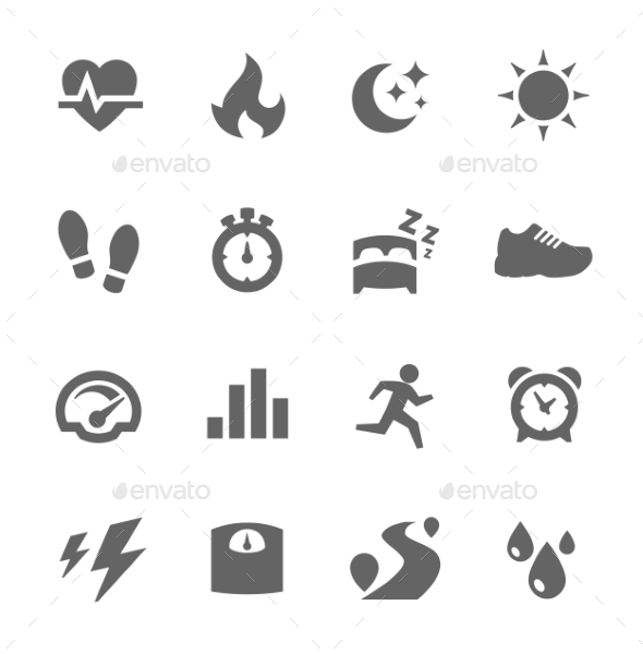 GraphicRiver Activity Tracking Icons 9264508