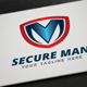 Secure Man Logo - GraphicRiver Item for Sale