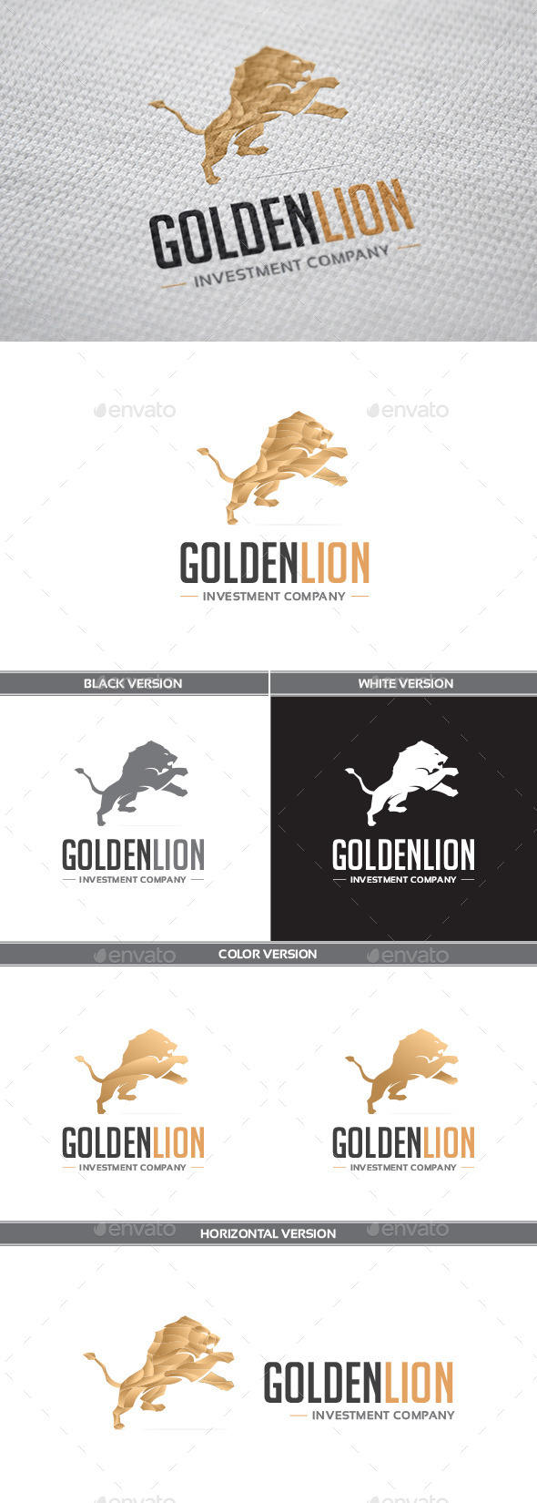 GraphicRiver GoldenLion Logo 9237913
