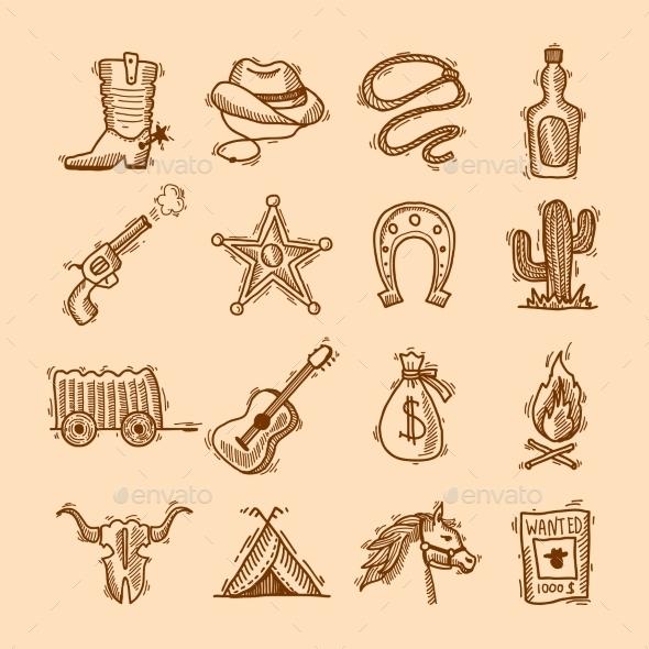 GraphicRiver Wild West Set 9264572