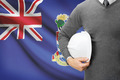 Engineer with flag on background - Cayman Islands - PhotoDune Item for Sale