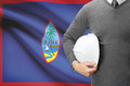 Engineer with flag on background - Guam - PhotoDune Item for Sale